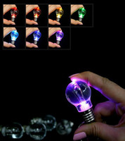 Wholesale Light Toys For Sale - New Sales High quality LED Keychain Flashlight Light Bulb for wedding party decoration as kids' toy birthday