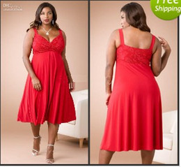 Robe Robe Mousseline Rouge À Bas Prix Pas Cher-2016 Cheap Sweetheart Neckline Red Chiffon A-Line Longueur au genou Plus Size Evening Party Robes formelles