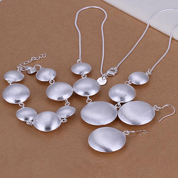 top popular Wholesale - lowest price Christmas gift 925 Sterling Silver Fashion Necklace+Earrings set QS012 2020