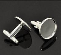 Wholesale Blank Sterling Silver Cufflink Wholesale - Freeshipping, high quality sterling silver cufflink base, cufflink blank, cufflink size18mm