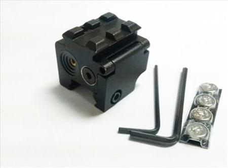 미니 레드 닷 레이저 피스톨 시력 용 컴팩트 듀얼 위버 레일 마운트 20mm