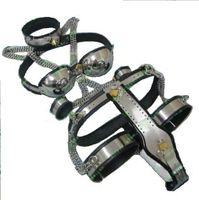 Wholesale Chastity Belt Bra T Type - Female Adjustable T-type steel chastity belt Thigh Cuff bra collar handcuff (5pcs in 1 set)