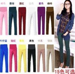 Wholesale Pregnant Women Trousers - SALE pregnant women spring summer trousers abdominal pants 15 colours Cheap