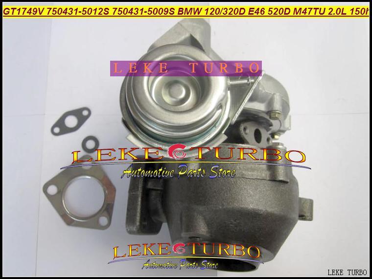 Atacado Novo GT1749V 750431-5012S 750431-5009S 750431 Turbina Turbo Turbo para BMW 120D 320D E46 520D Engine M47TU 2.0L 150HP