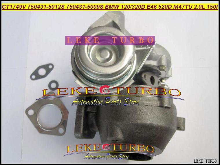 Groothandel NIEUWE GT1749V 750431-5012S 750431-5009S 750431 Turbine Turbo Turbo voor BMW 120D 320D E46 520D Motor M47TU 2.0L 150HP
