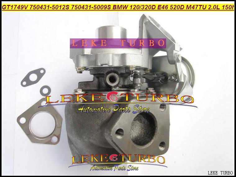 도매 새로운 GT1749V 750431-5012S 750431-5009S 750431-5009S 750431 BMW 120D 320D E46 520D 엔진 M47TU 2.0L 150HP 용 터빈 터보 차저