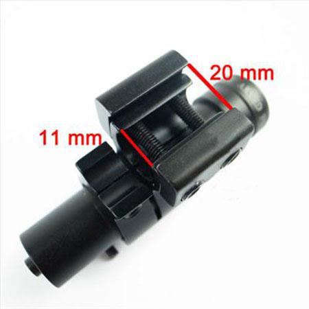 Tactical Red Dot Laser Sight Rifle Scope con 11mm / 20mm Scope Mount