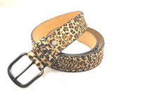 Wholesale Leopard Print Pu - 1PCS Korean Style Leopard Print PU Leather Rivet Belt Waistband #23611