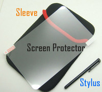 Wholesale Cloth Stylus - 3pcs Soft Case Sleeve pouch cloth Bag + screen protector + Capacitive Touch stylus for 7 inch 8 inch 9 inch 9.7 inch iPad 10 inch Samsung