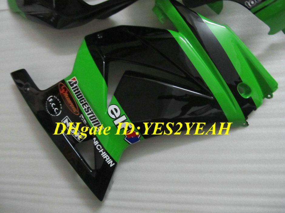 Injectie Keuken Body Kit voor Kawasaki Ninja ZX250R ZX 250R 2008 2012 EX250 08 09 10 12 GROENE BLACK VERICHTINGEN CANDWORK KH97