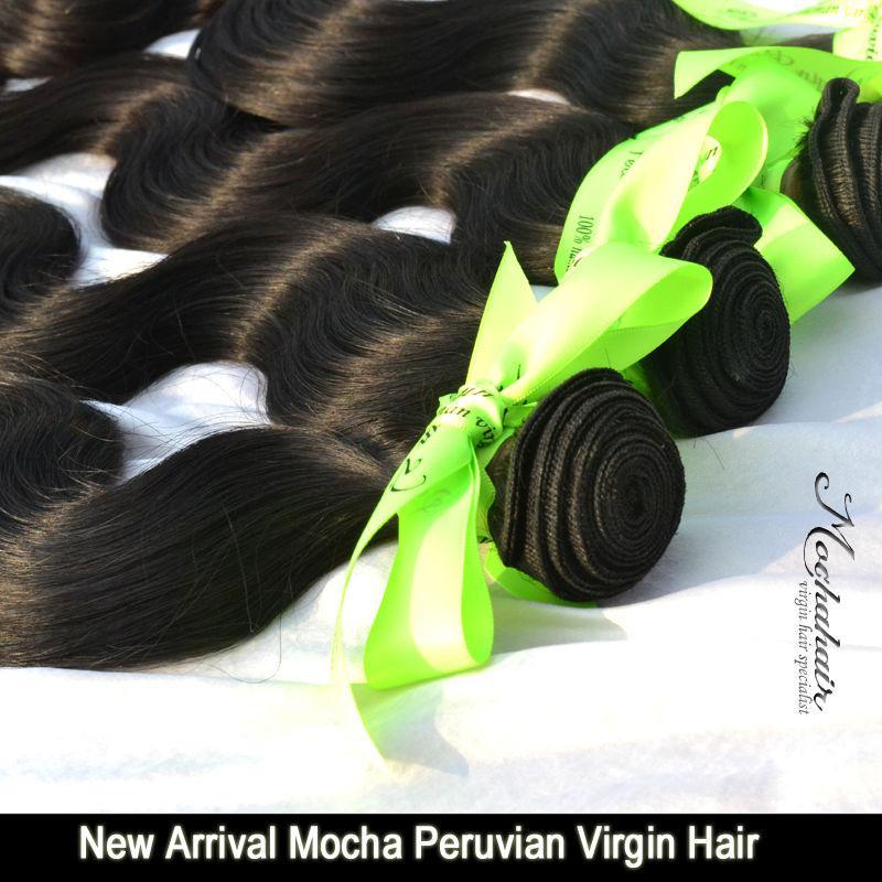 Nueva onda del cuerpo del pelo de la Virgen peruana del pelo de la mocha de la llegada, extensiones del pelo de la alta calidad 12