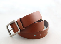 $enCountryForm.capitalKeyWord Canada - 2PCS Classic Brown Genuine Cow Leather Mens Belts Waistbands #23651