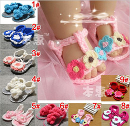 Wholesale Crochet Shoes Baby Cartoon - Best Quality 3M-12M Toddler Baby Shoes Pure Handmade Weave Wool Cartoon Infant Crochet Shoes 10pair lot QS549