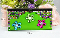 Cheap Boho Lady Wallet Sac Crystal Pmma PU Leather 5color 5PCS Mix Order Lot Livraison gratuite 0827