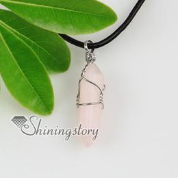 Semi Pendant Australia - tiger's eye rose quartz amethyst quartz jade natural semi precious stone necklaces pendants High fashion jewelry Spsp2105FR0