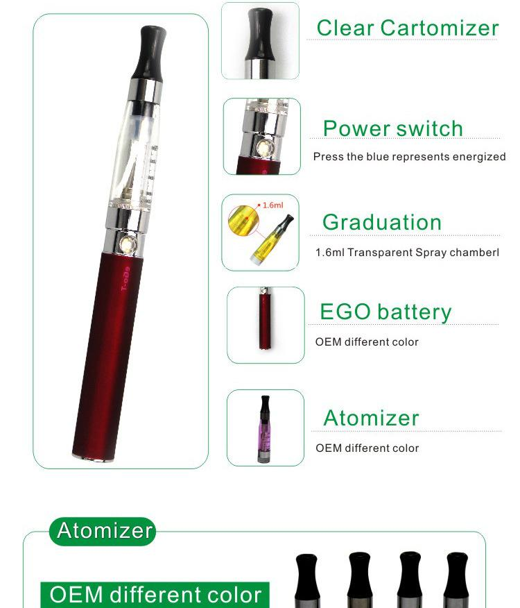 Ego-K CE4 Electronic Cigarette Blister Kits Ego CE4 Atomizer E Cigarette with 650mAh Ego-T Battery via DHL Free Electronics Clearomizer