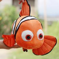 Wholesale Fishing Games Toy - EMS New Plush Nemo Clown Fish from Tokyo Plush toys 9inch Clownfish Plush Toy Free Shipping