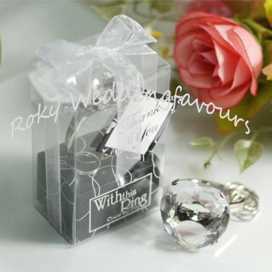2018 With This Ring Engagement Keychain FavorsHeart Shape Diamond Wedding Favors From Weddingfavours 071