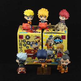 Wholesale Naruto Figure 6pcs - 6pcs Different Petit Chara Land Naruto Shippuden 5 cm PVC Figure Set NIB