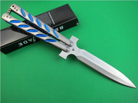 Wholesale C Butterfly - butterfly C-45SL C45 survival hunting gift knife outdoor camping knives 440C 56HRC X-mas gift for man 1PCS freeshipping