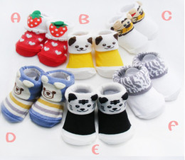 Wholesale China Winter Baby Wear - 30% OFF!Winter does not relent plinth,small ears baby socks!Newborn pure cotton socks kid shoes baby wear shoes sale china  12pairs 24pcs J