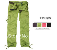 Wholesale Girl Cargo Pants Baggy - Women's Fashion Clothing Women Green Cargo Pants Hip Hop Dance Harem Pants Sweat Pants Girls Baggy Casual Trousers 9012