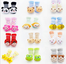 Wholesale China Winter Baby Wear - 30%OFF Winter models baby shoes! Wool socks coil! Thick socks doll bell shoes shop kid shoes baby wear shoes sale china 12pairs 24pcs J