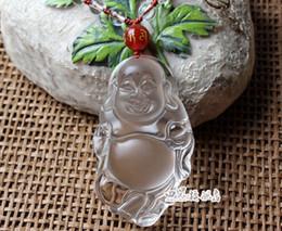 Wholesale Nephrite Jade - And nephrite, jade Buddha pendant. Sakyamuni, carved clear l0030