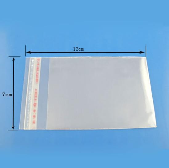 MIC New Clear Self Adhesive Seal Plastic Bags 7x12cm DIY Jewelry Packaging & Display hot sell