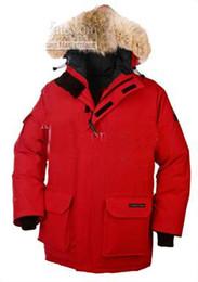 Wholesale Men S Coats Raccoon Fur - Brand men Parka down jacket coats Real Raccoon fur collar Winter warm waterproof red