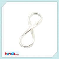 sonsuzluk konektörü bilezik toptan satış-Beadsnice ID26140 takı bağlayıcı katı 925 gümüş infinity linkler takı bileşenleri için kolye bilezik yapımı tiny infinity bağlayıcı