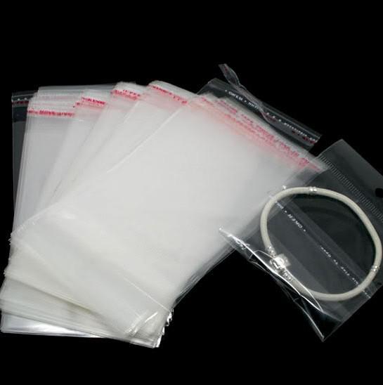/ Sello autoadhesivo transparente Bolsas de plástico 13.5x8cm Bolsas de joyería, bolsas Pantalla de embalaje