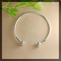 Wholesale Bracelet Screw Ends - 20pcs 65&70mm Silver plated SCREW END CUFF CHARM BRACELET BANGLE FIT HOLE BEADS,Ending Screw Balls Fit European Jewelry Findings