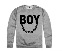 Wholesale White Boy London Sweatshirt - NEW hot sale BOY LONDON sweatshirt VSVP fuckdown Boy with Suede mix order High Quality Free Shipping