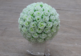Wholesale 12 Inch Rose Kissing Balls - 30CM 12 inch Artificial Simulation of high-quality encryption kissing rose flower ball for the New Year festive Wedding Decorations bouquet