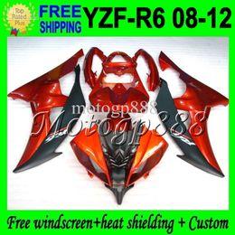 Wholesale 12 R6 Fairings - 2gifts High MPuality For YAMAHA YZF R6 08 09 10 11 12 YZF-R6 Orange black !! YZF 600 YZFR6 MP97398 2008 2009 2010 2011 2012 YZF600 Fairing