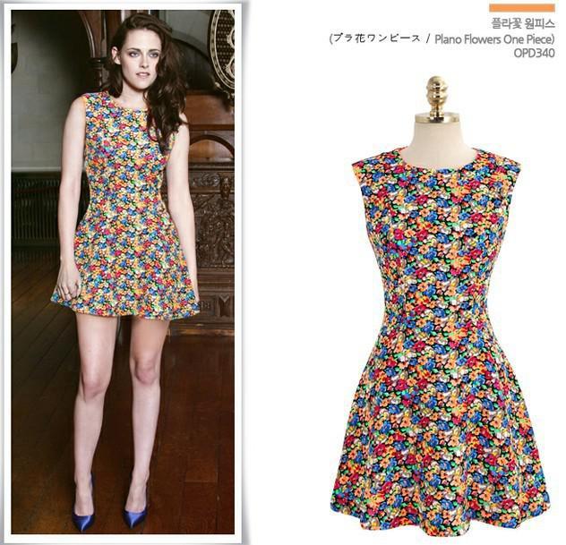 Designed Super Star Sexy Celebrity Mini Dress Printing Floral Party Dress  Kristen Stewart Fashion Sleeveless Dress Sh6040 Dresses S Dressing For  Women From ...