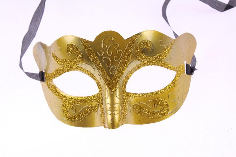 Promotie Selling Party Masker met Goud Glitter Masker Venetiaanse Unisex Sparkle Masquerade Venetiaans Masker Mardi Gras Maskers Maskerade Halloween