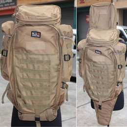 Wholesale Rifles Fishing - Hot Brand New Athletic Outdoor Molle Airsoft Rifle Backpack Travel Camping Hiking Fishing Bag Free Shipping