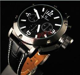 Wholesale Quartz Japan Movt Leather Straps - 2013 NEW USA Hot sale Men's Quartz Analog Wristwatch,Leather Strap Sports Watch,Luxury Japan Movt V6 watch