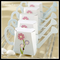 Wholesale Paper Flower Pots - Hot Selling Unique Watering pot Flower Candy Boxes New Candy Favors Novelty Wedding Favors Favor holders Wedding Candy package Theme Party