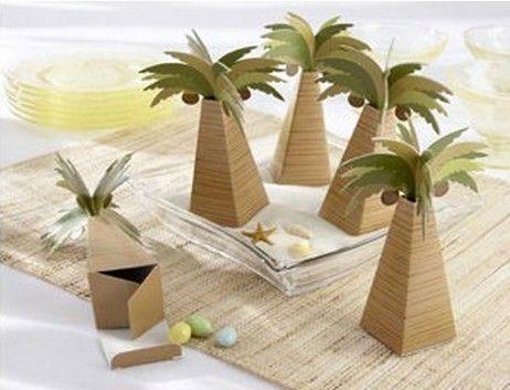 Único árbol de coco palma de coco Cajas de caramelo Cinta Nuevo Favores de caramelo Novedad Favores de boda Titulares de favor Paquete de caramelo de boda Fiesta temática