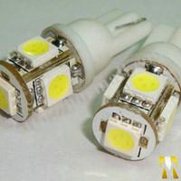 mavi sinyal lambası ampulleri toptan satış-20 İNDİRİM ! 10 x merhaba parlaklık 12 V 5050 5 SMD LED T10 5SMD 168 194 Araba Dönüş Sinyali Yan Iç Dashboard Ampul Işık