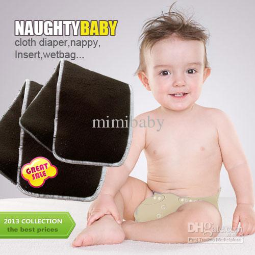 US Promption Reuseable Charcoal bamboo Insert 5 Layers 3+2 Baby Cloth Diaper Nappy Inserts