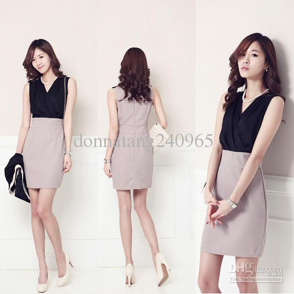 Women Pencil Dress Elegant Summer Office Wear Formal Dress Fashion Business Dress Office Wear