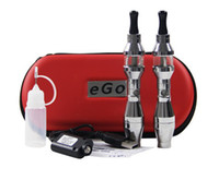 Wholesale Ego Ee2 Double - EE2 650mAh Battery EE2 Atommizer Double Batteries Charger eGo-T Atomizer USB Cable Cheap Electronic Cigarette eGo Cigarette eGo-T