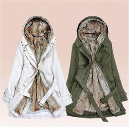 Wholesale Fur Lining Jacket - free shipping women down parkas lady winter clothing girl's outerwear Faux fur lining women's fur jackets Overcoat coat coats Tops