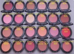 Paquete de envío gratuito! 24 Piezas / Lote Newhot Arrival 6g Powder Blush! 24 Colores