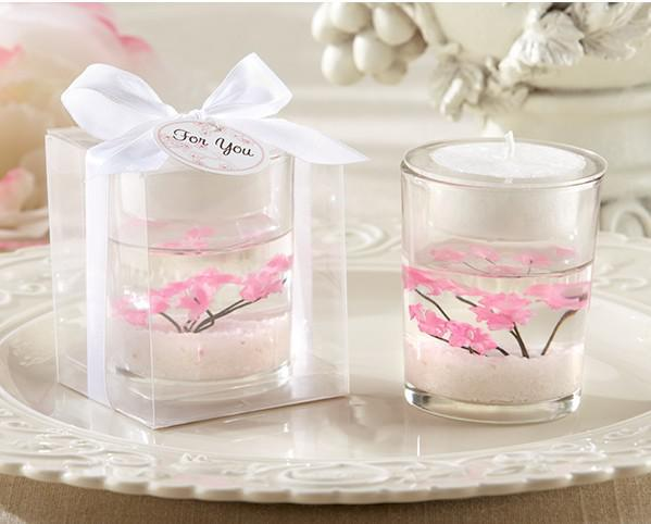 Give away wedding gifts image collections wedding decoration ideas cherry blossom blossom filled tea light holder wedding favors of cherry blossom blossom filled tea light give away junglespirit Image collections