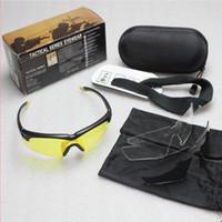 Wholesale Eagles Eye Lens - 3 Lens Eagle Kit Tactical Eyewear Sunglasses Goggle Outdoor Eye Protection Glasses